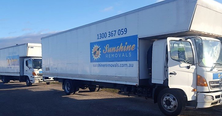 Trucks going to jobs removals Melbourne