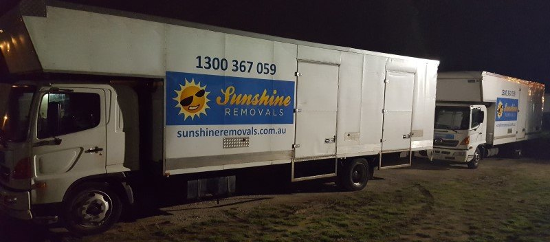 parked Trucks overnight event movers