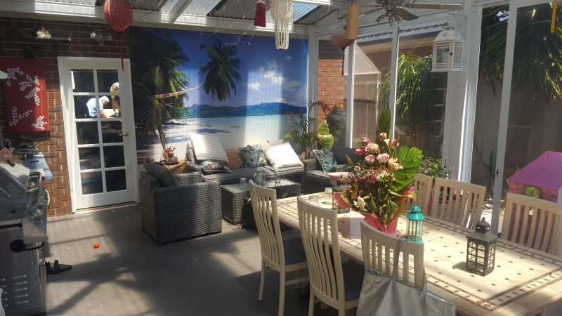 Patio in moving houses.