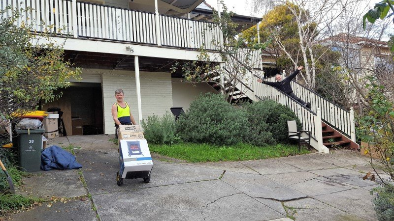 Stairs while moving house on Budget removalists Melbourne how to save money