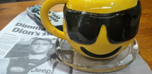 Sunshine Removals Melbourne Reviews with a cup of coffee.