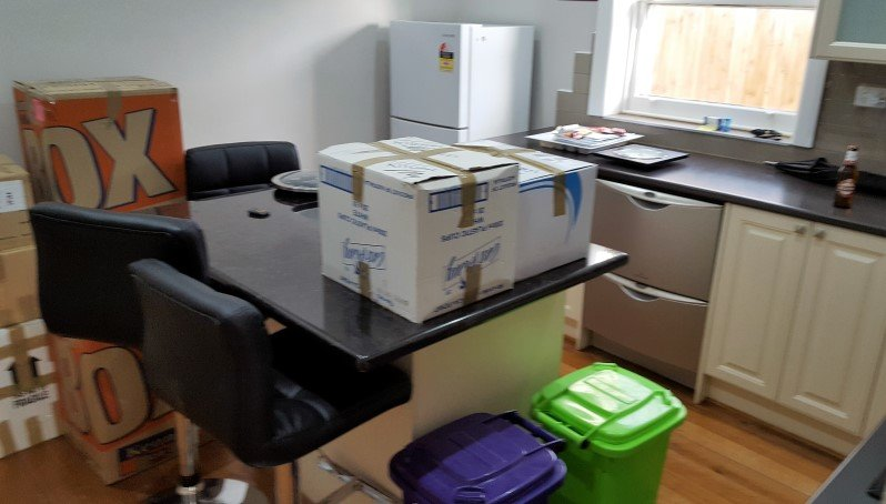 Kitchen Packed by furniture removalist melbourne.