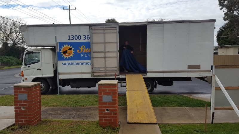 Keilor furniture removals Western Suburbs Truck with Ramp.