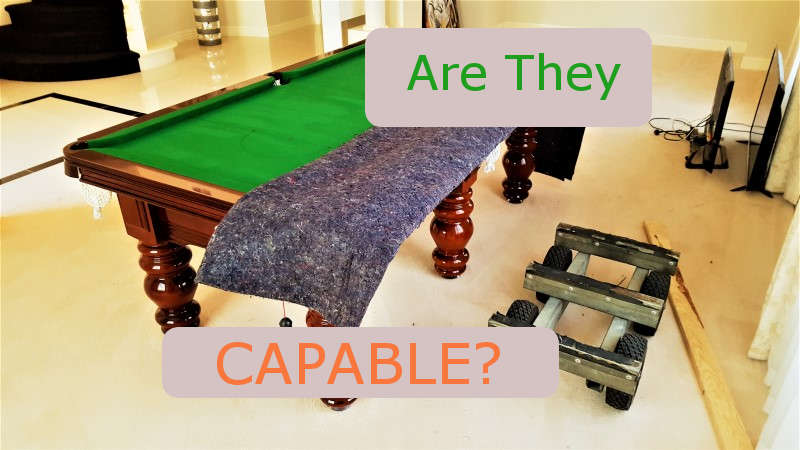 Pool or Billiard Table removalists Western Suburbs and right technique and equipment.