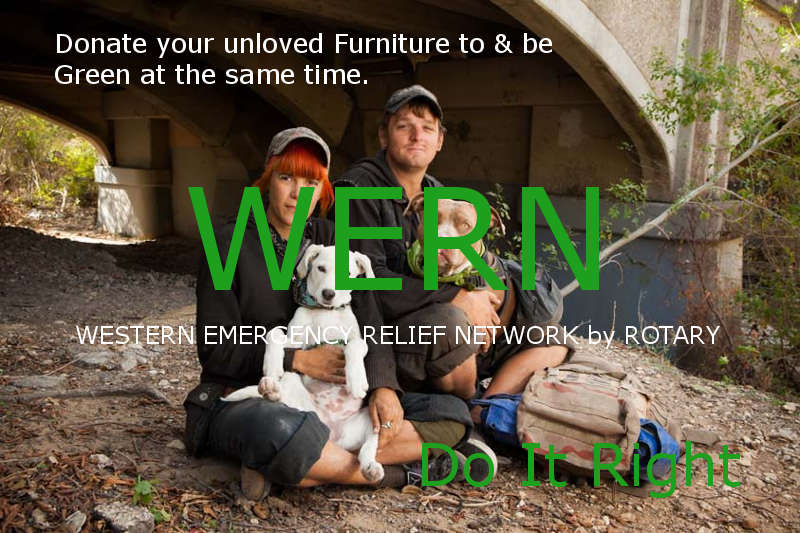 WERN and Melbourne moving Companies Western Suburbs picture vof homeless couple and two pet Dogs living under a bridge.