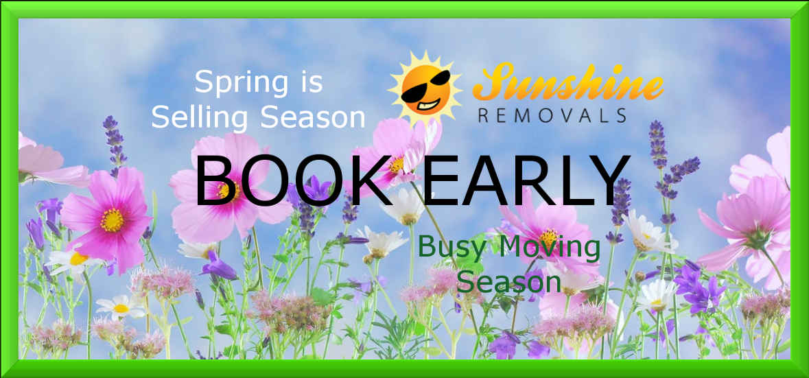 Spring Season is busy for Melbourne removalists Book early.