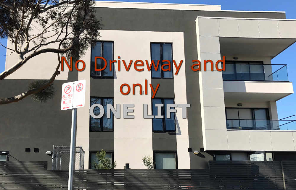 Apartment removalists melbourne - image of a new apartment building in Melbourne middle suburbs.