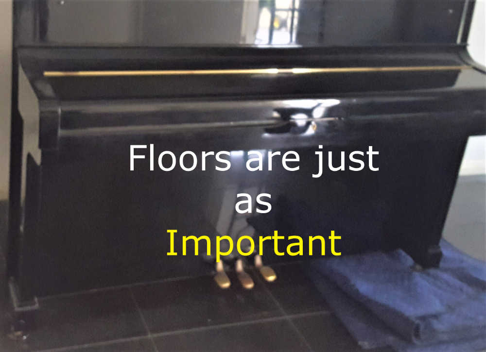 Piano removals melbourne showing care for floor.